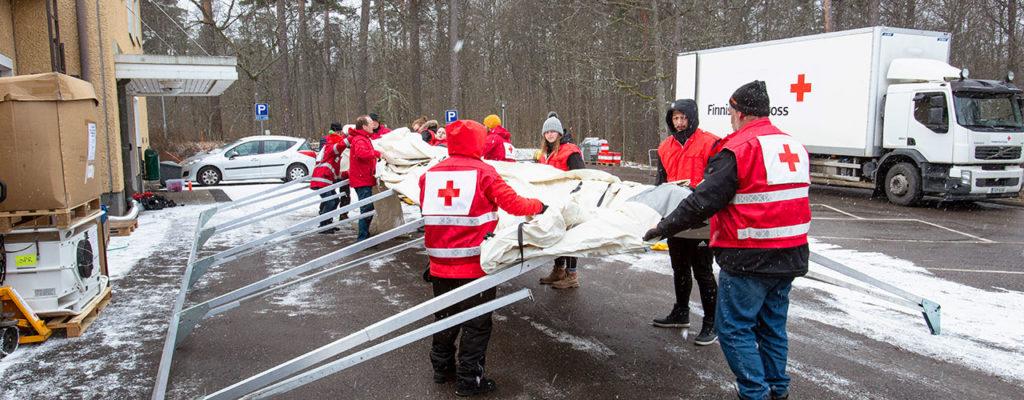 Punainen Risti toimitti Triage-yksikön Raaseporin sairaalaan