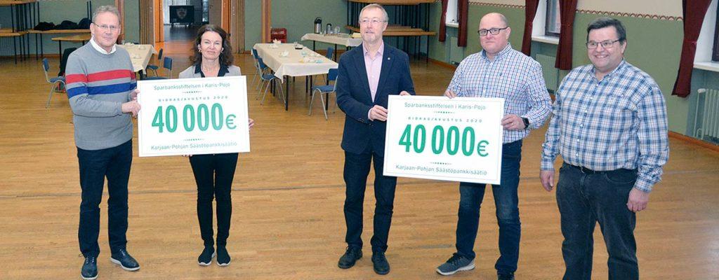 Säästöpankkisäätiö tukee alueensa toimintaa 730.000 eurolla tänä vuonna