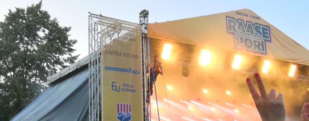 Raasepori Festivaalia rakennetaan nyt kahdelle päivälle