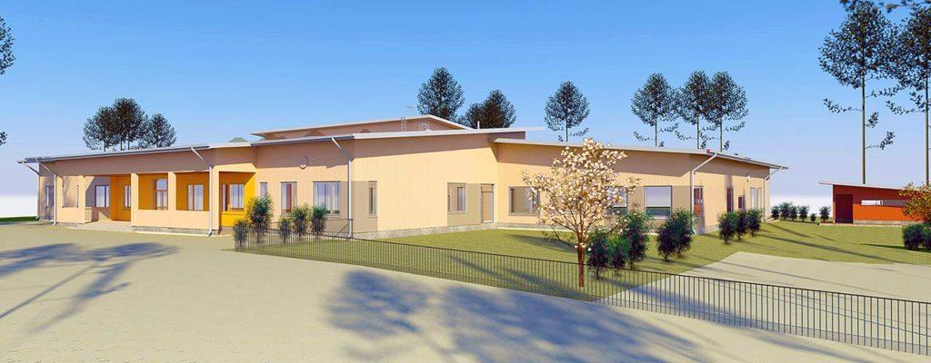 Uusi koulukeskus Askers nousee Mustiolla
