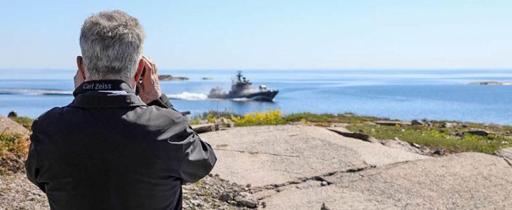 Presidentti Sauli Niinistö seurasi Ritva 21-sotaharjoitusta