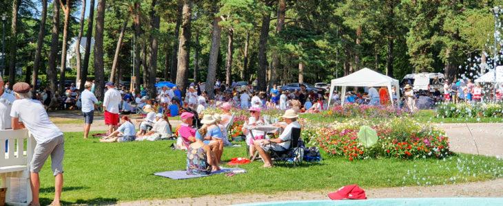 Ihmiset picnicillä